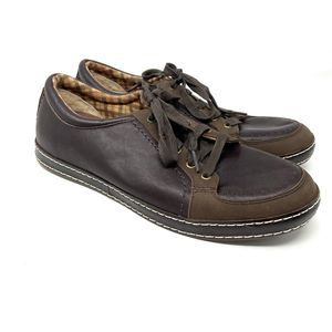 UGG Australia Men's Brown Leather Lace Up Shoes